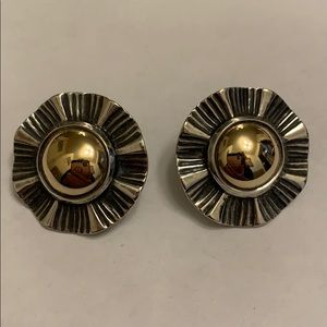 """James Avery Earrings 1"""" Gold & Silver Posts"""